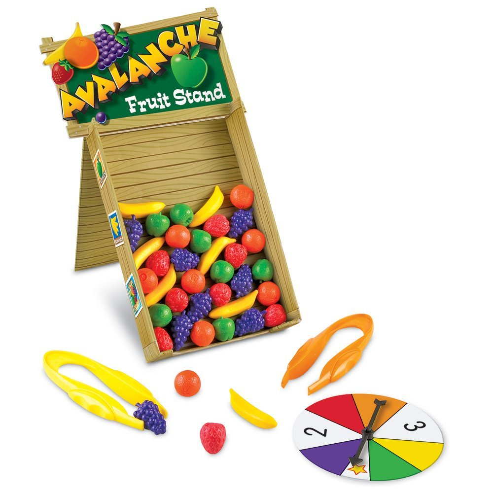 Learning Resources Avalanche Fruit Stand, Fine Motor Game