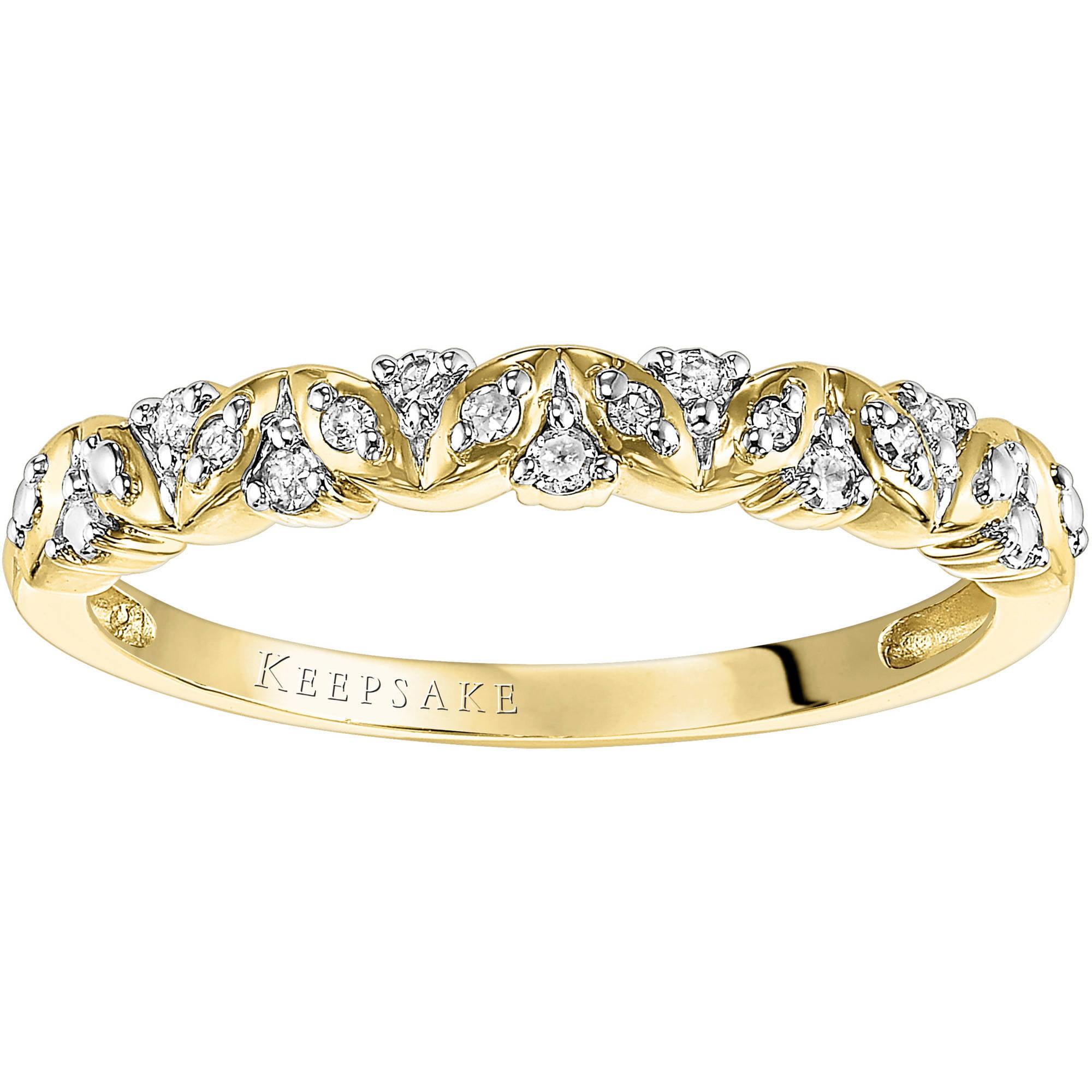Keepsake Sweet Remembrance 1/10 Carat T.W. Diamond 10kt Yellow Gold Anniversary Band
