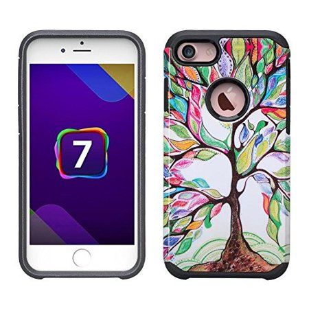 iPhone 6S Case, iPhone 6 Case | Slim Hybrid Dual Layer Armor[Shock/Impact Resistant] Case for Apple Iphone 6S/6 - Colorful Tree (iphone 6 case the giving tree)
