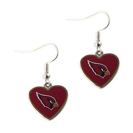 0c8159e3 NFL Arizona Cardinals Sports Team Logo Non-Swirl Heart Shape Dangle Earring
