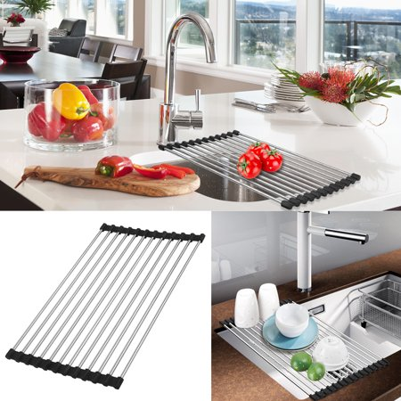 Roll Up Rack, TSV Foldable Dish Drying Rack-In The Sink Drying Mat-Multipurpose Dish Drainer - 15
