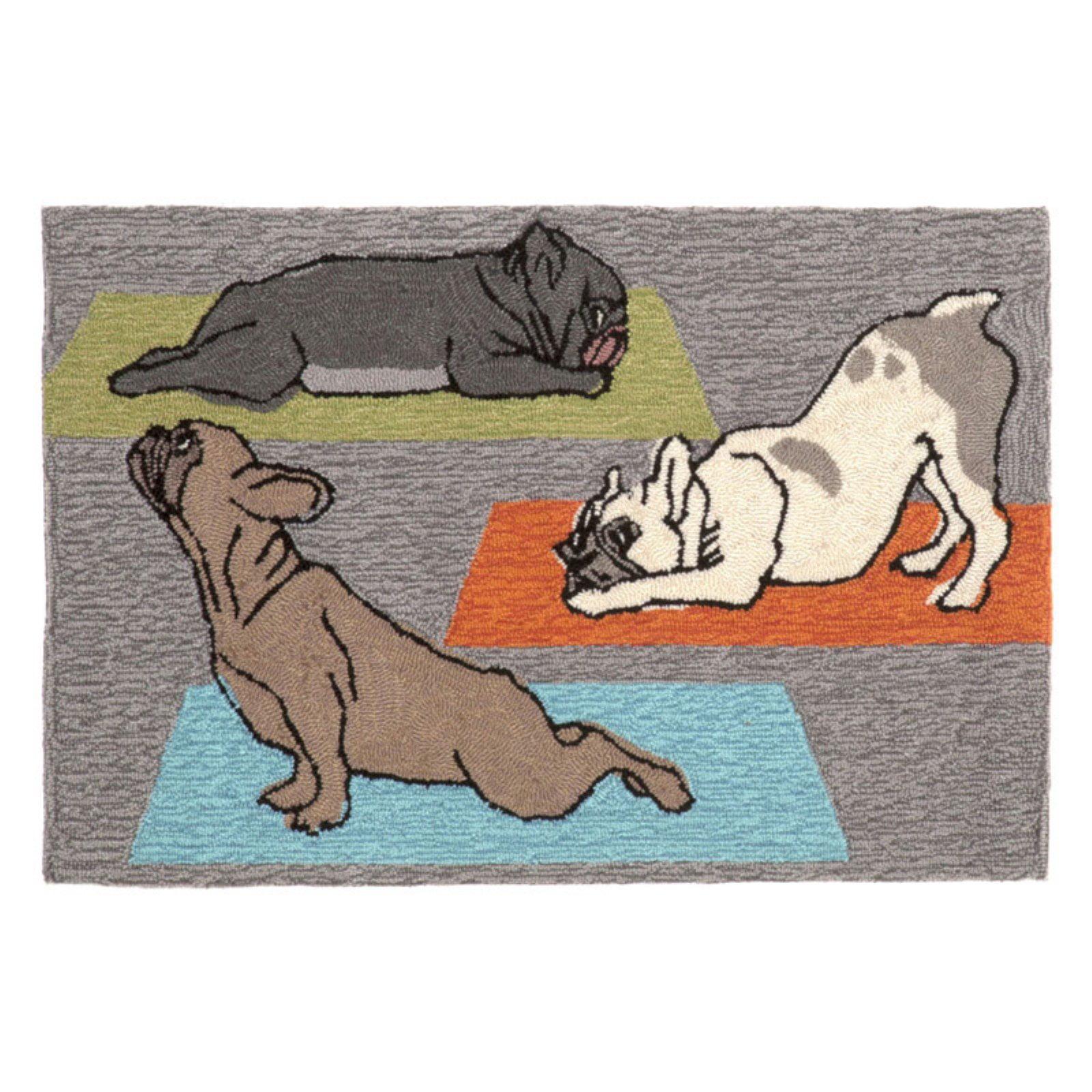Trans-Ocean Rug Frontporch Yoga Dogs Doormat