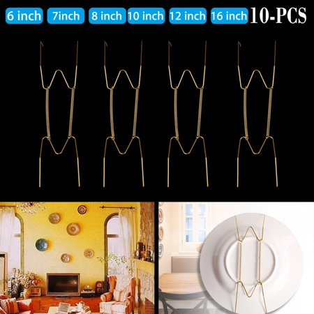 Plate Hanger Plate Dish Display Plate Hangers, Non-scratch hooks,For The Wall Decoration- (10 Pack) 6