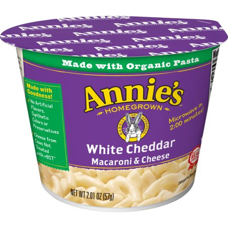 Annies White Cheddar Macaroni And Cheese Micro Cup  2 01 Oz