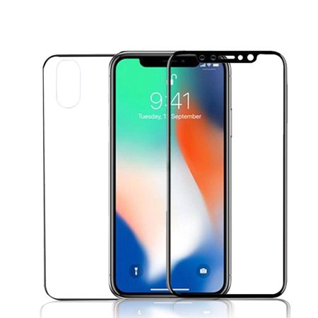iPhone X Front and Back Screen Protector, Mignova Front + Back Rear [9H Hardness 0.26 mm 2.5D] Premium Ultra-Clear Anti Scratch/Bubble Free Tempered Glass Case Cover for iPhone X
