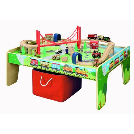 50 piece Train Set with Train / Play Table - BRIO and Thomas & Friends Compatible - Walmart Train Table