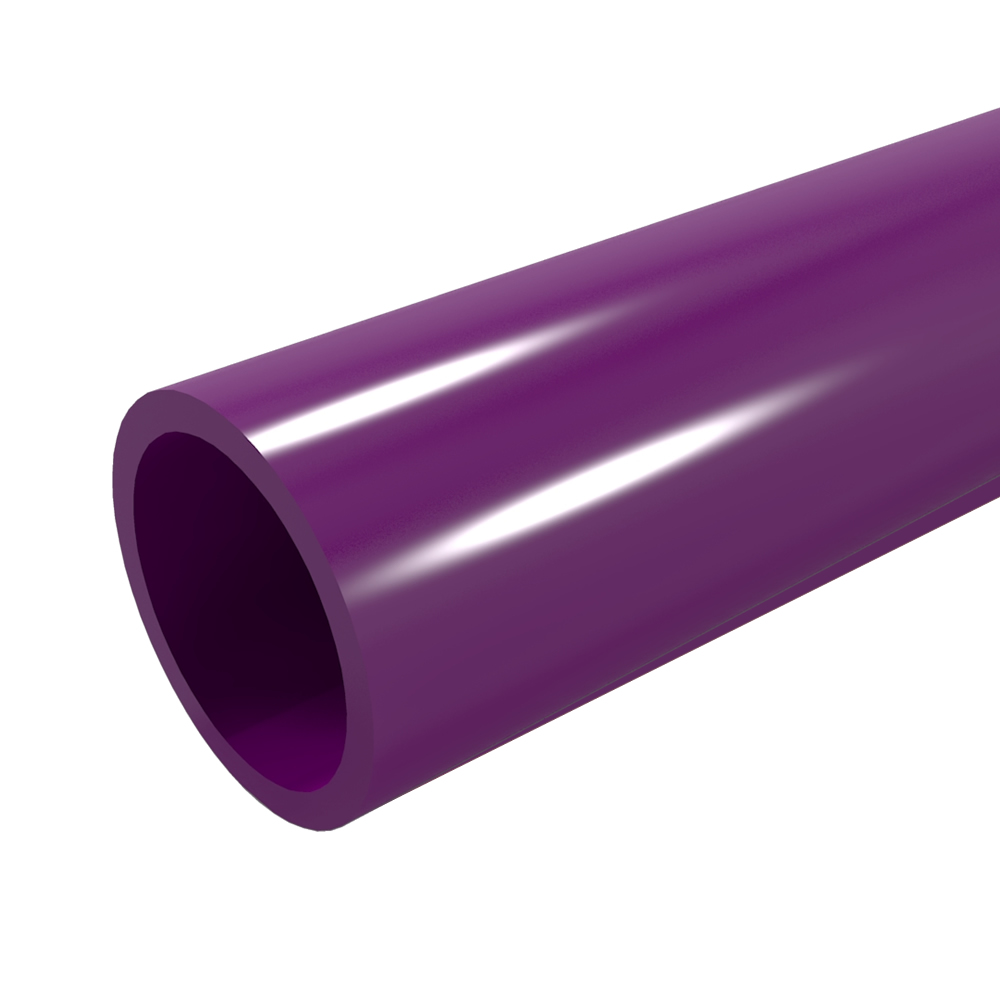 "FORMUFIT P001FGP-PU-5 Schedule 40 PVC Pipe, Furniture Grade, 5-Feet, 1"" Size, Purple"