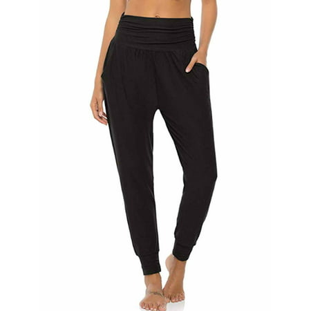 Women's Athletic Joggers Pants Yoga Sweatpants Workout Running Loose Comfy Lounge Pants for Lady with Pockets