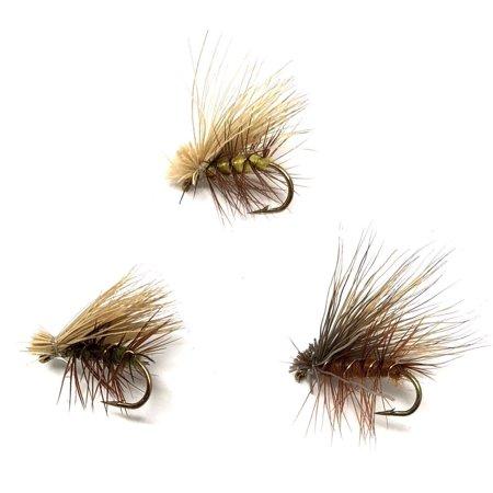 Elk Hair Caddis Fly Pattern - Elk Hair Caddis Variety - 24 Flies  - 3 Size Assortment 14,16,18