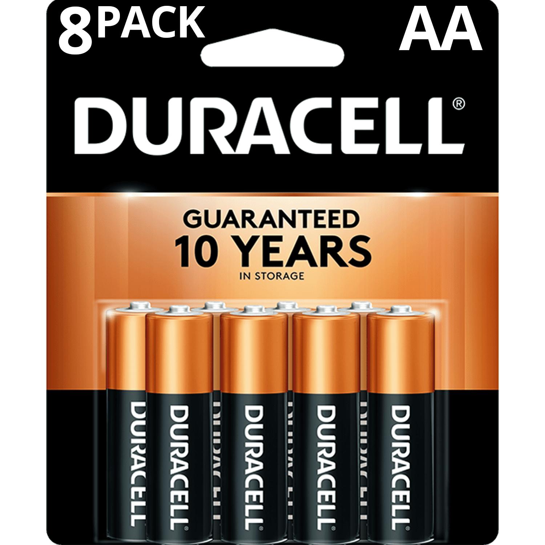 Duracell 1.5V Coppertop Alkaline AA Batteries, 8 Pack