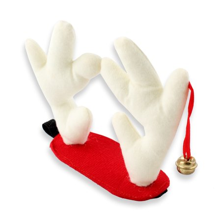 Pet Christmas Fancy Dress Elk Reindeer Antlers Hat Headband for Dog Cat Clothes Costumes, Red S