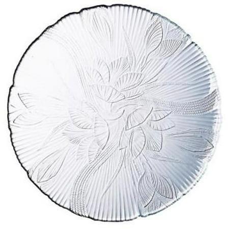 "Canterbury 10"" Embossed Floral Leaf Design Dinner Plate"