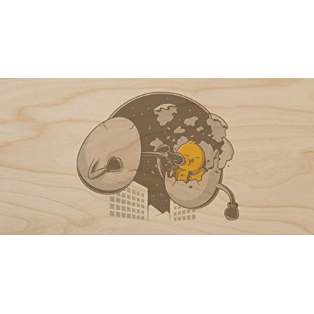 Plywood Wood Print Poster Wall Art -