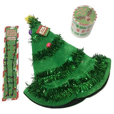 light up merry christmas tree, light up necklace and holi...