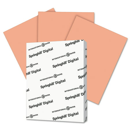 Springhill Digital Index Color Card Stock, 90 lb, 8 1/2 x 11, Salmon, 250 Sheets/Pack -SGH085100