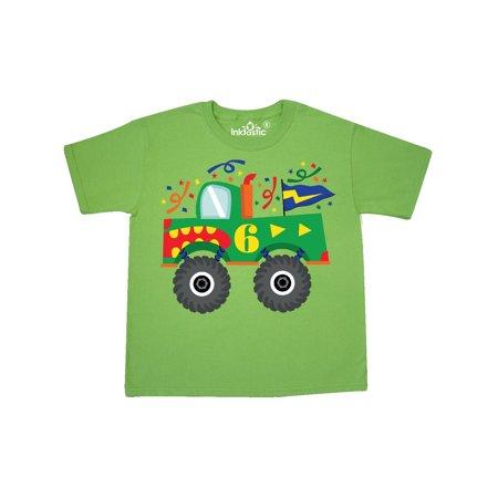 ab817114 Inktastic - 6th Birthday Monster Truck 6 Year Old Youth T-Shirt -  Walmart.com
