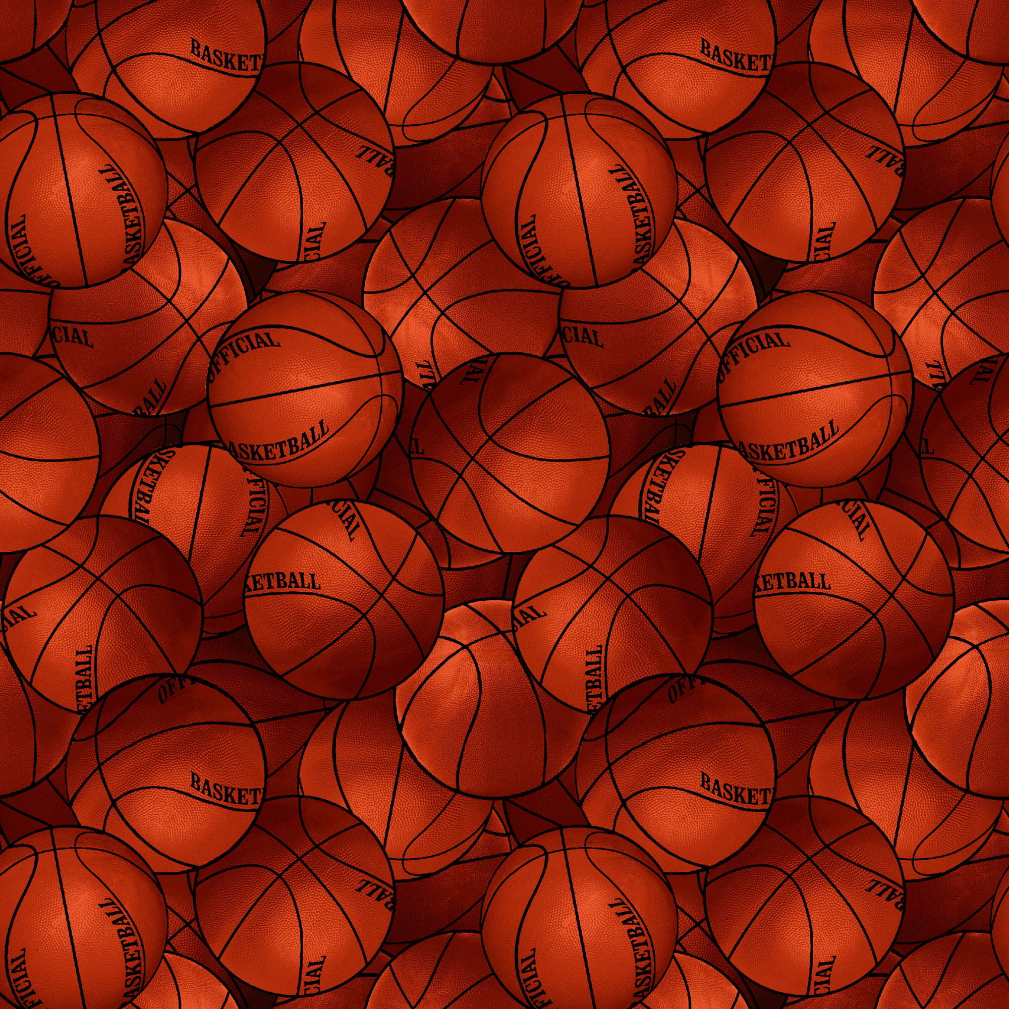 David Textiles Cotton Precut Fabric Packed Basketballs 1 Yd X 44 Inches