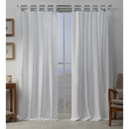 Exclusive Home Curtains 2 Pack Loha Linen Braided Tab Top Curtain Panels