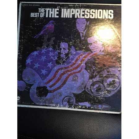 THE IMPRESSIONS THE BEST OF LP GREATEST HITS ABCS-654-RARE COLLECTIBLE (The Best Of The Impressions)