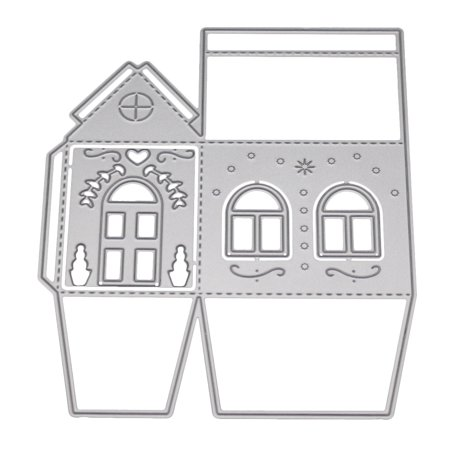 New 2018 Three-dimensional House Die Cut Metal Scrapbooking Die Party Decoration Greeting Card Accessories ()