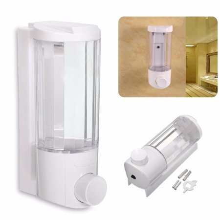 400ml Soap Dispenser Wall Mounted Bathroom Shower Body Lotion Shampoo Liquid