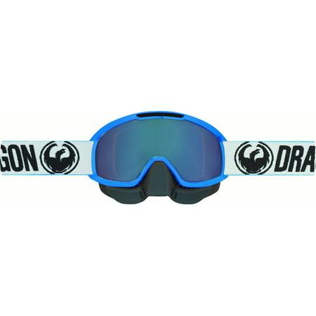 Dragon Flashing Antenna - Dragon MDX2 Factory Snow Goggles Luma Flash Blue Ion Lens