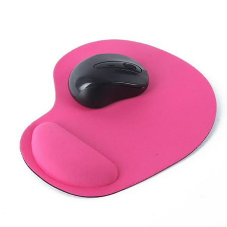Solid Color Optical Trackball PC Thicken Mouse Pad with Wrist Support, Comfort Laptop Notebook Mouse Mice Pads Mat Notebook Mouse Pad Mat