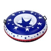 Ski Circle Cold Resistant Snow Tube With Handle American Flag Toy Outdoor Sports