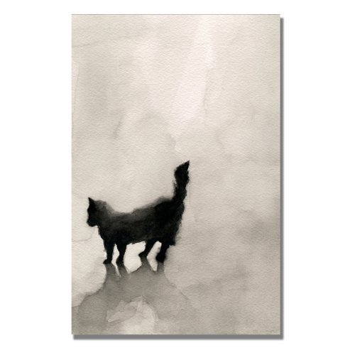 Black Cat Canvas Art by Beverly Brown