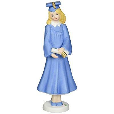 enesco growing up girls blonde graduate figurine, 6.25-inch