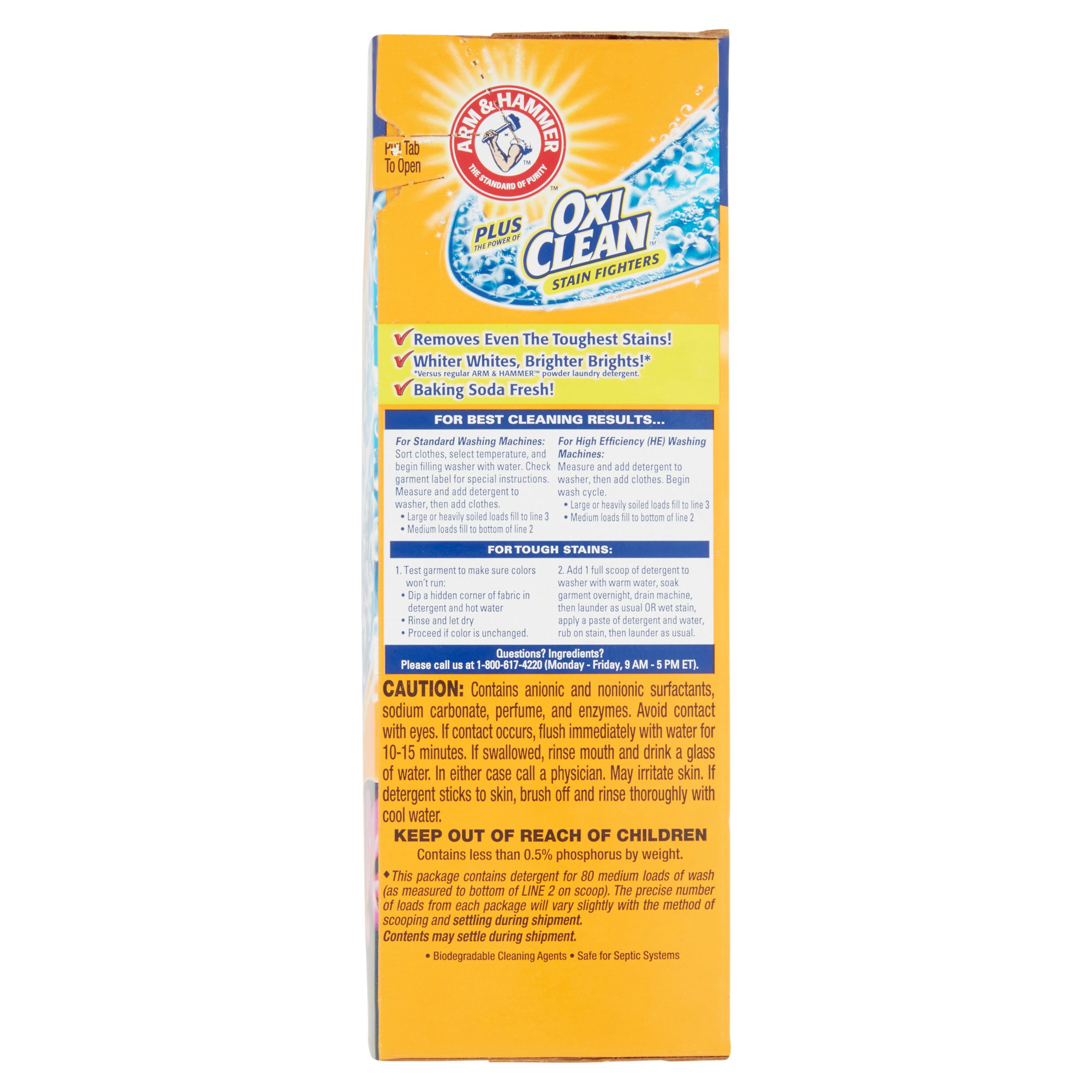 Is arm and hammer powder laundry detergent he - Arm Hammer Plus Oxiclean Tropical Burst Laundry Detergent 6 61 Lbs Walmart Com