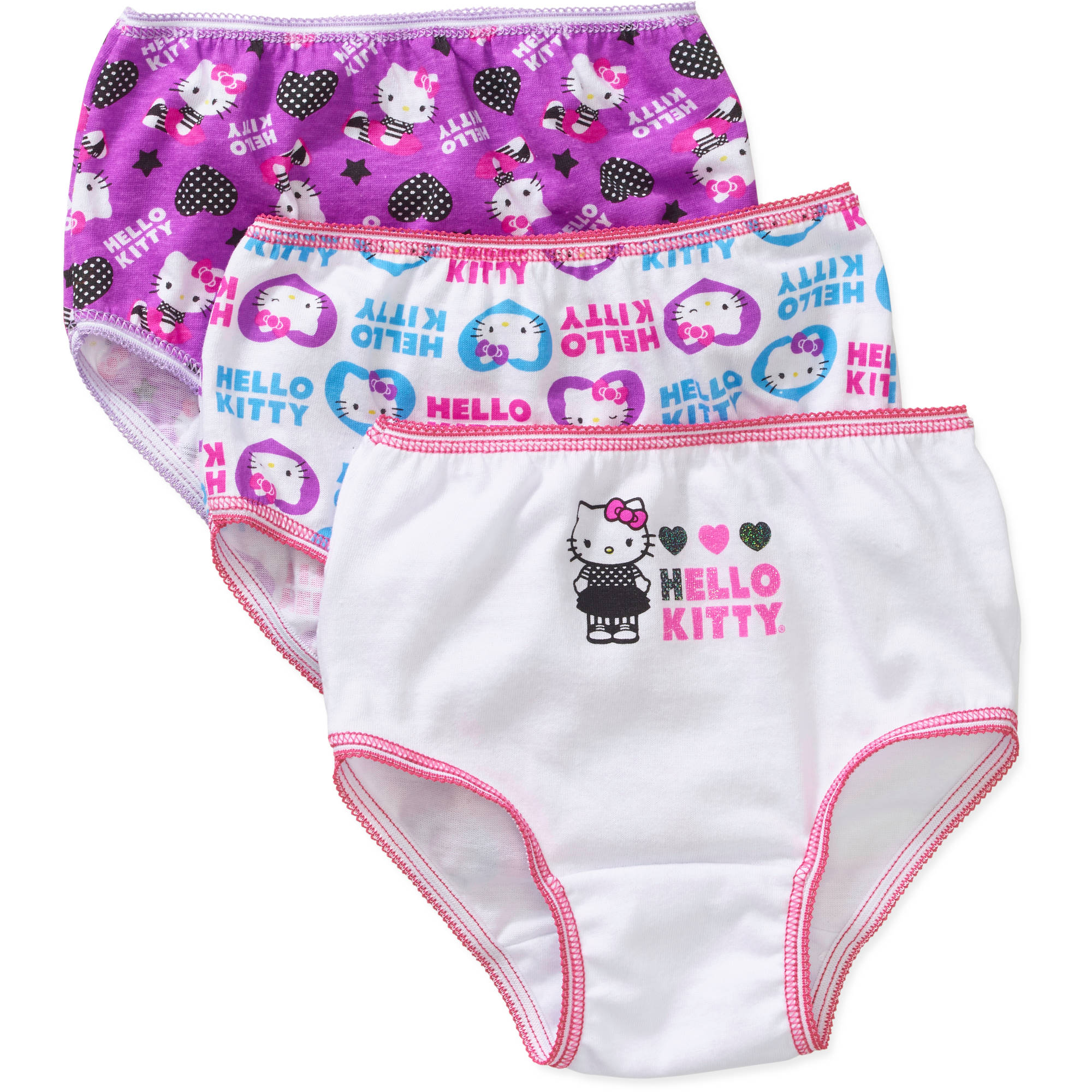 Hello Kitty Toddler Girls Underwear, 3 Pack