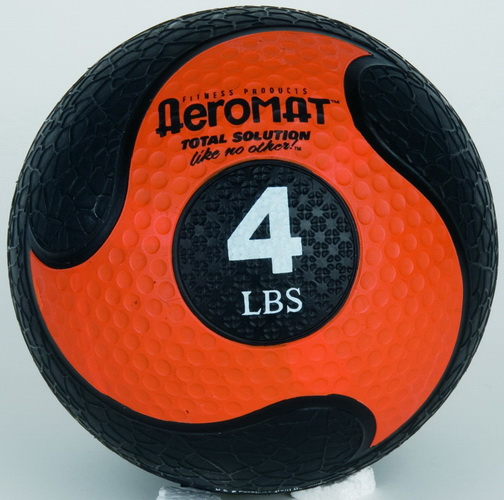 (Price/piece)Aeromat 35861 Elite Deluxe Medicine Ball, Low Bounce, Black/Orange - 4 LB, Med Ball Low Bounce