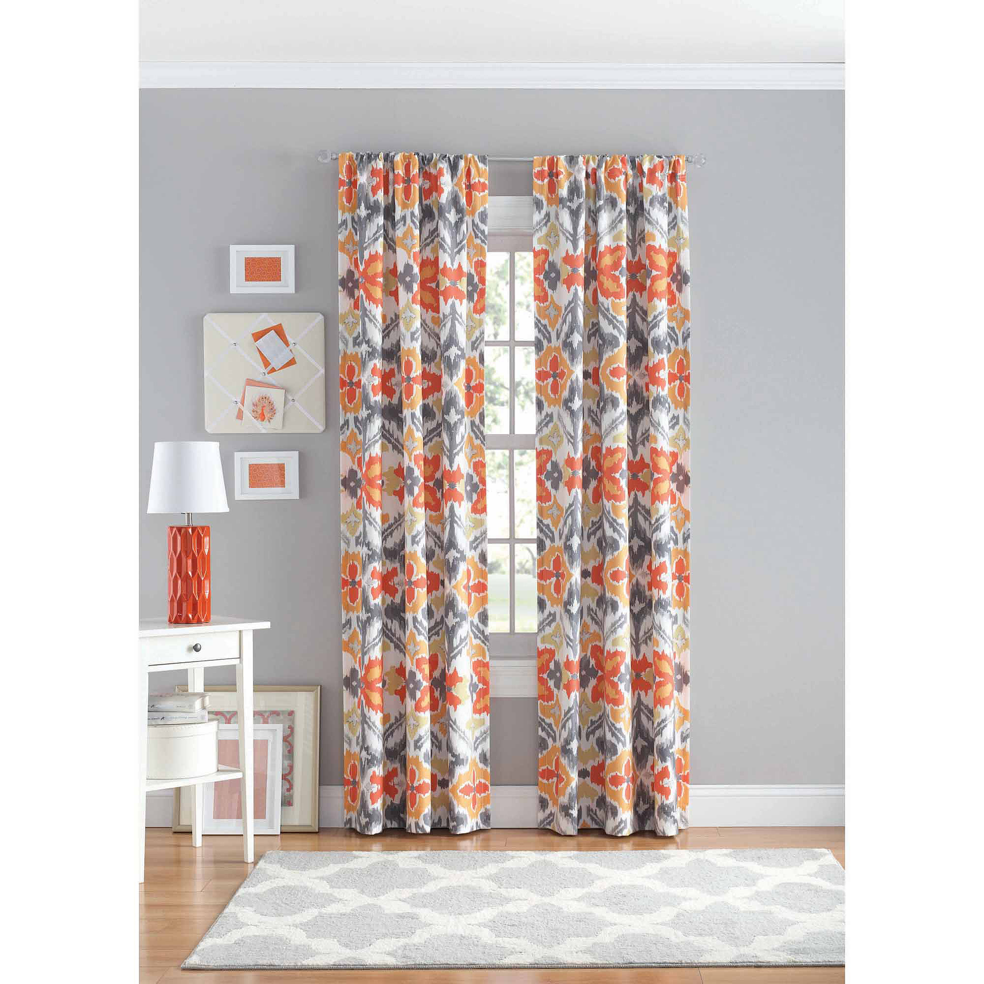your zone ikat polyester curtain panel