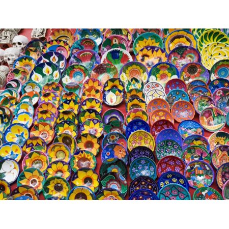 Pottery For Sale, Valladolid, Yucatan, Mexico Print Wall Art By Julie Eggers