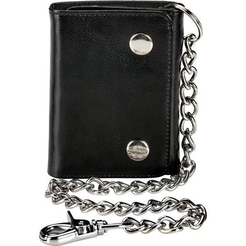 Faded Glory Men's Trifold 2 Snap Chain Wallet