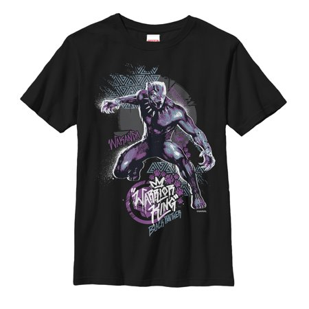 Marvel Boys' Black Panther 2018 Paw Prints
