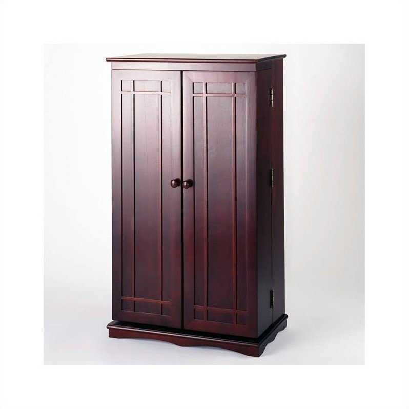 "Leslie Dame 40"" CD DVD Media Storage Cabinet in Cherry"