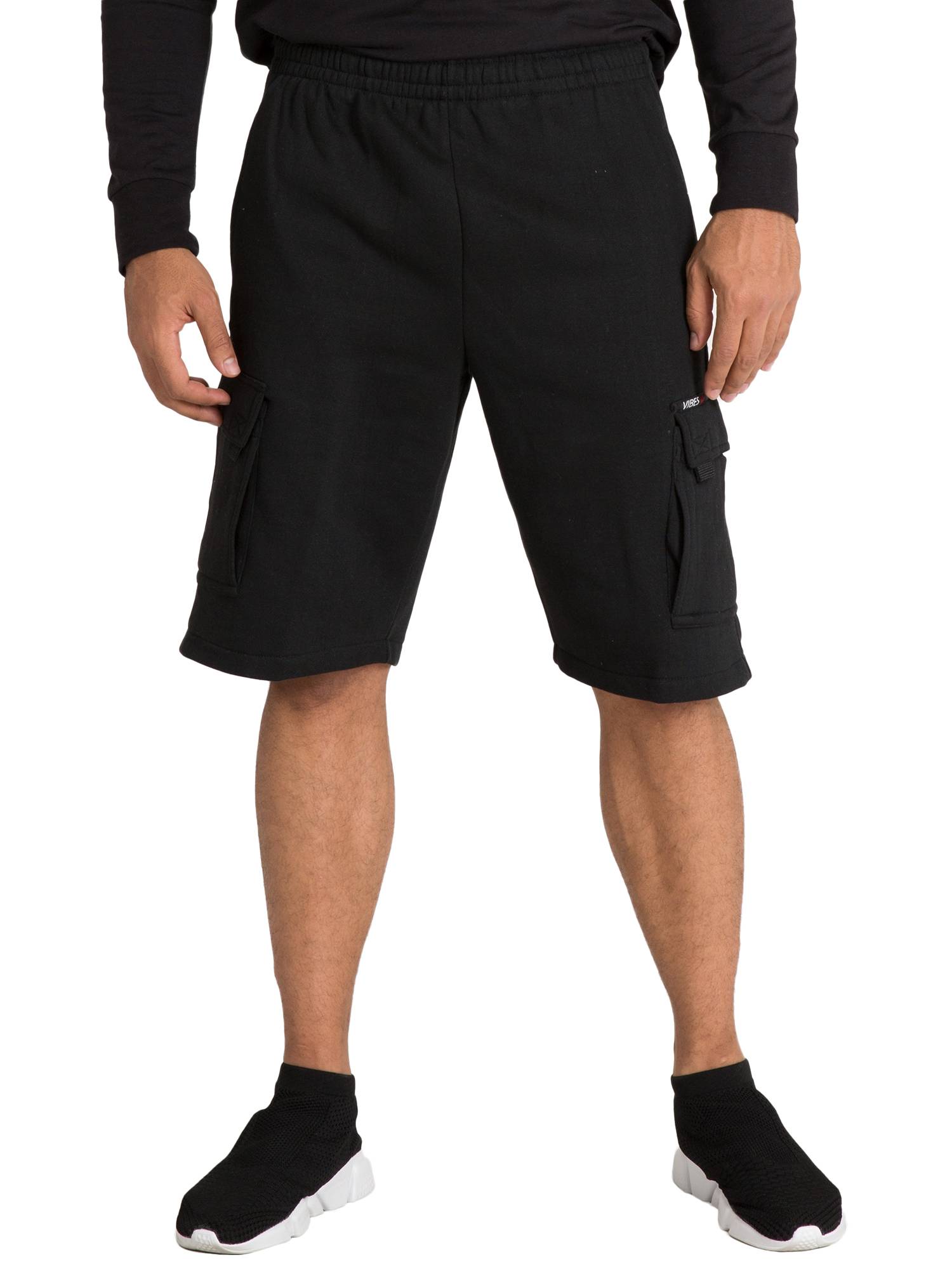 "Vibes Men's Celtic Fleece Relaxed Cargo Shorts 13"" Inseam Activewear"