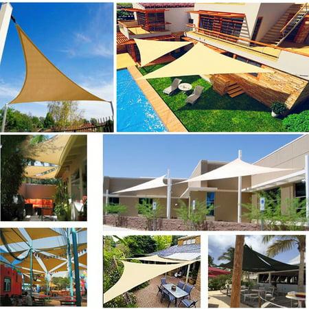 Sun Shade Triangle Sail Garden Canopy Patio Awning Water ...
