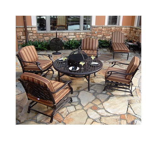 Art Frame Direct Laneon Fire Pit Seating Group with Cushions