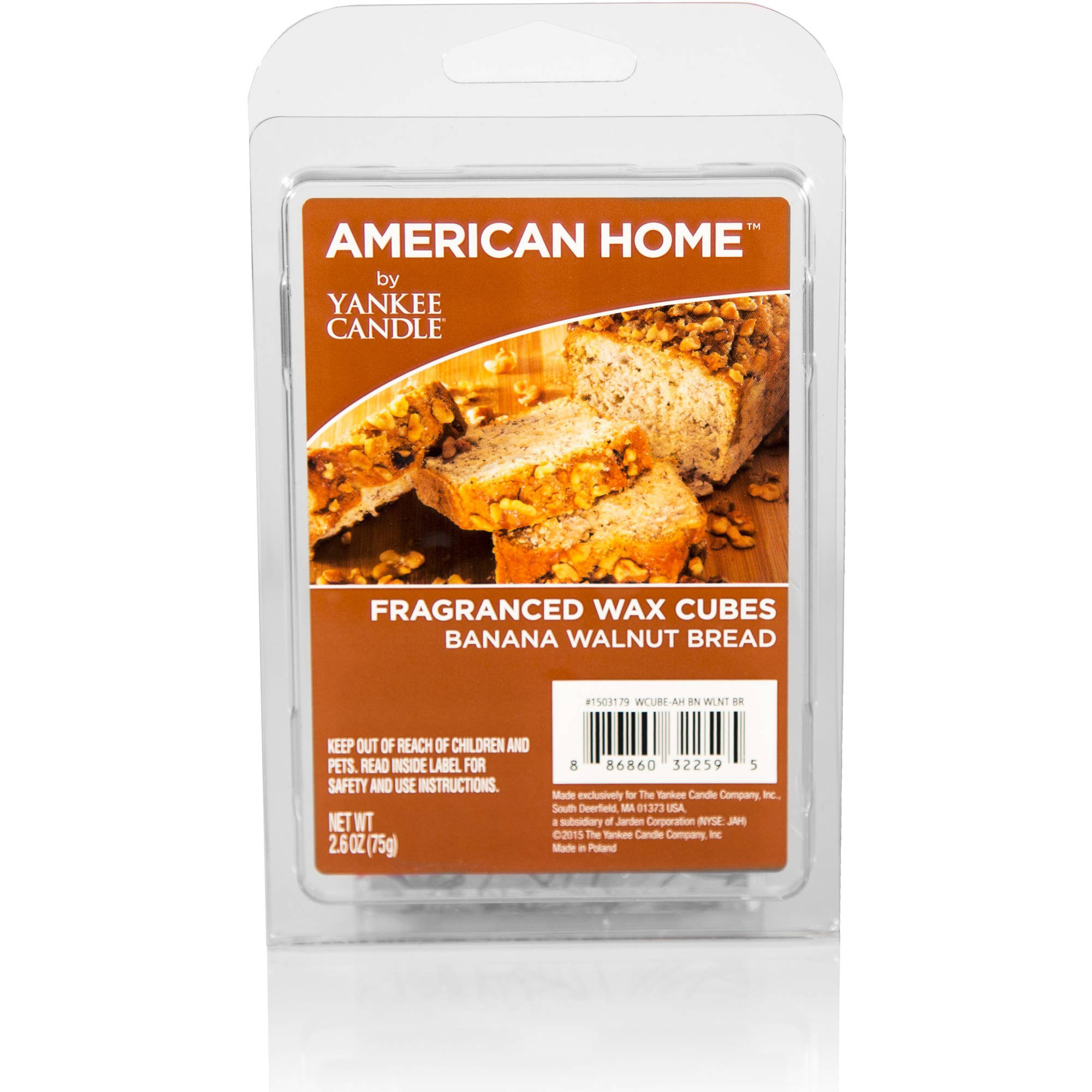 American Home by Yankee Candle Banana Walnut Bread, Fragranced Wax Cubes