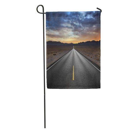 SIDONKU Road Desert Highway and Mountains at Sunset Death Valley National Park California Street Garden Flag Decorative Flag House Banner 28x40 inch - Desert Mountain Park Halloween