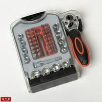 48PC Mini Ratchet and Bit Driver Socket Set