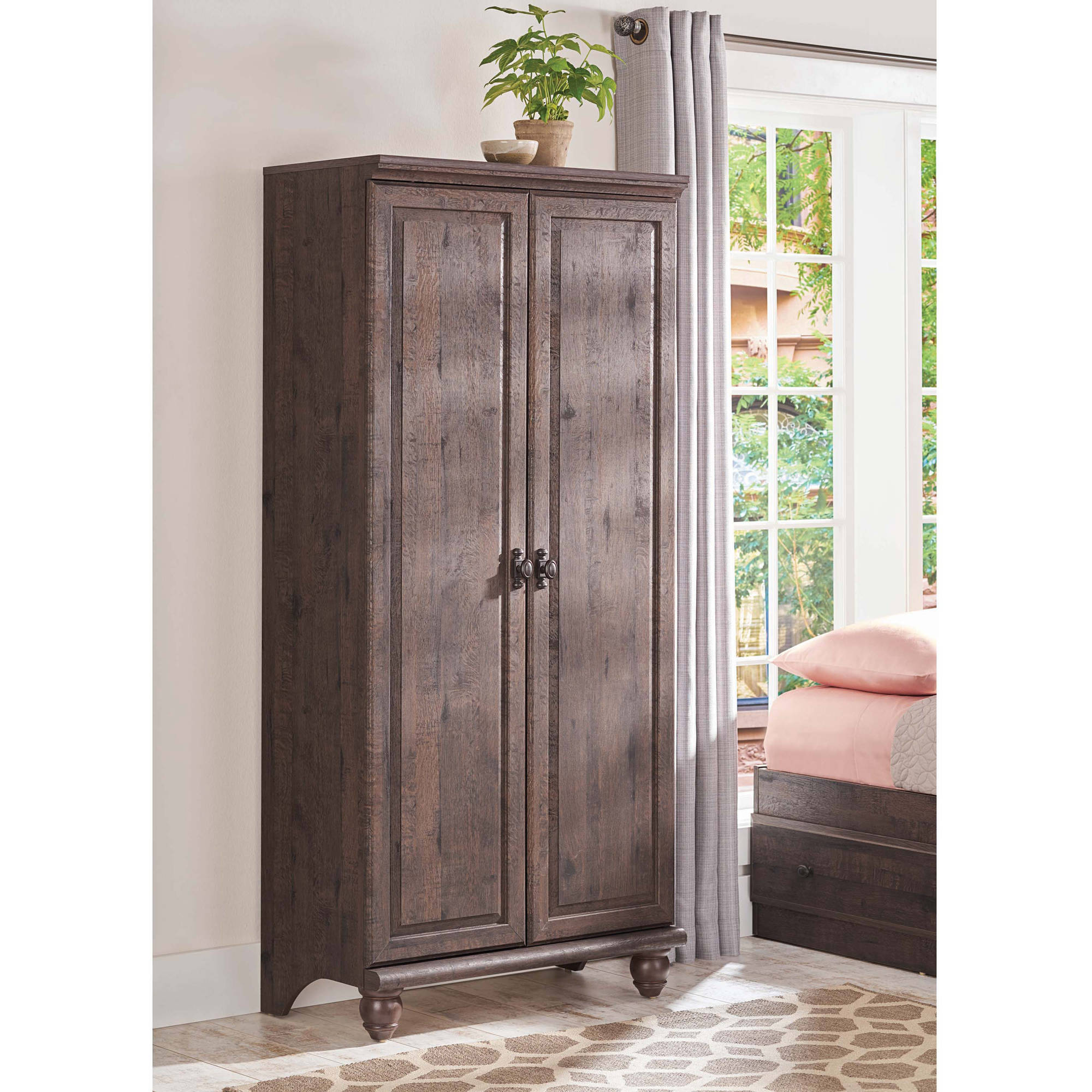 Your home improvements refference solid wood wardrobe closet - Better Homes And Gardens Crossmill Storage Cabinet Multiple Finishes Walmart Com