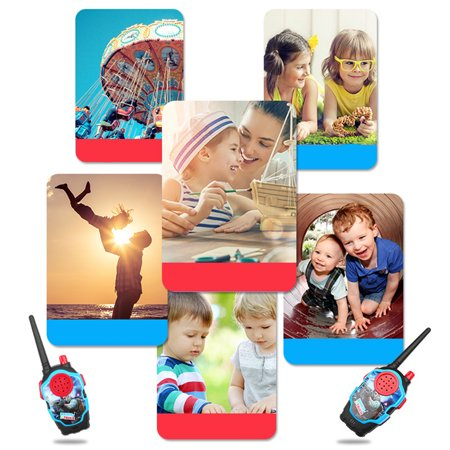 1 Pairs Kids Mini Cartoon Wireless Long Range Walkie Talkie Parent-child Toy Color:Black - image 1 de 6