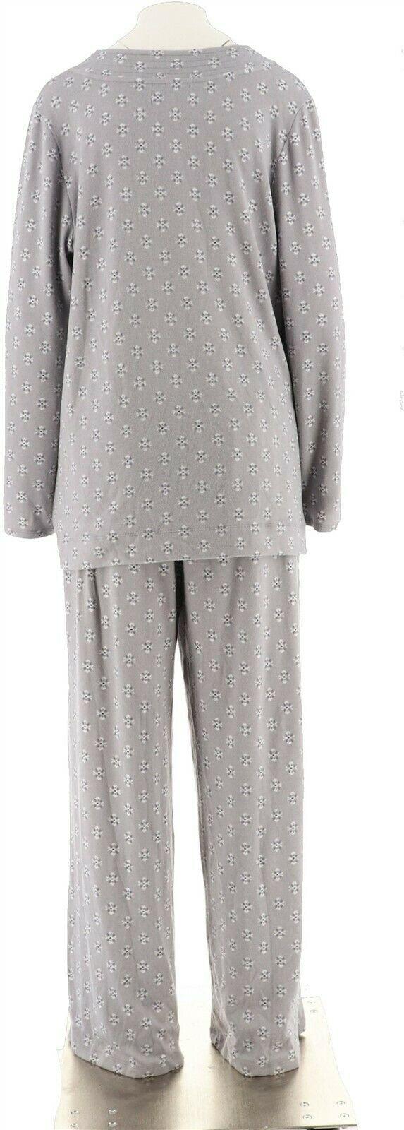Carole Hochman Printed Hacci Lounge Pajama Set Mauve XL NEW A297471