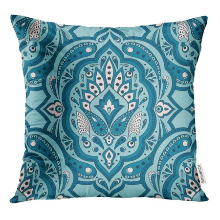STOAG Floral Paisley Pattern Vintage Flower Ethnic for Batik Oriental Throw Pillowcase Cushion Case Cover 16x16 inch ()