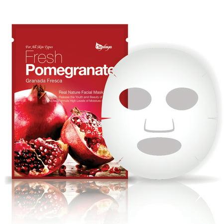 FRESH POMEGRANATE- For All Skin Types - Anti Aging - MOISTURE & NUTRITION - Facial Mask 25 (Pomegranate Moisture)