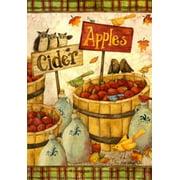 Cider & Apples Autumn Fall Garden Flag